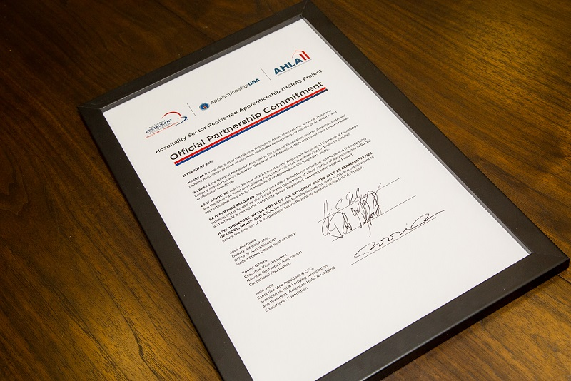 The signed partnership agreement.