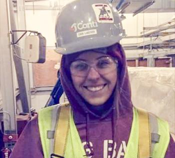 Erin Lakenen is an electrical apprentice.