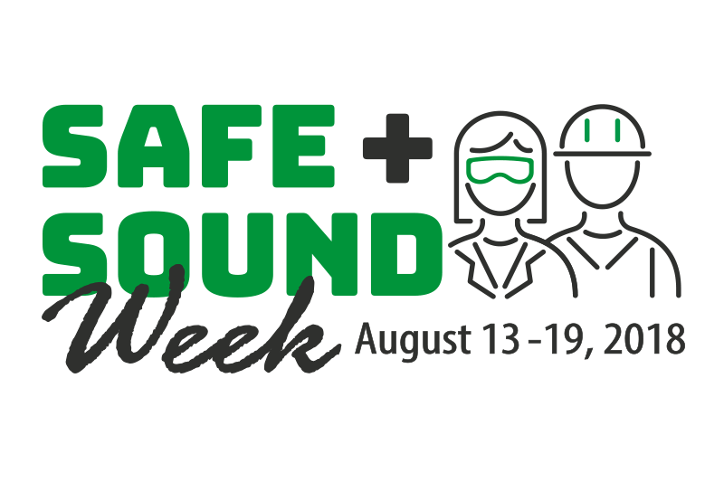 Logo for Safe + Sound Week, August 13-19