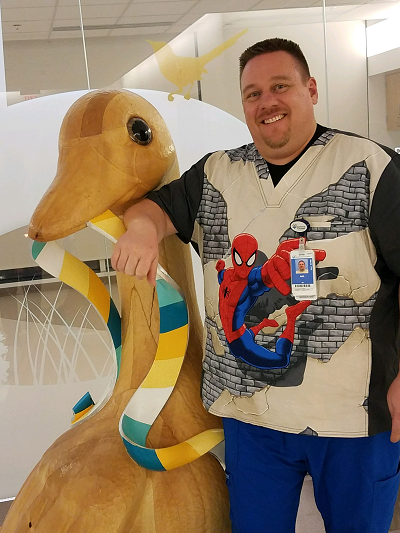 Keith as a pediatric nurse