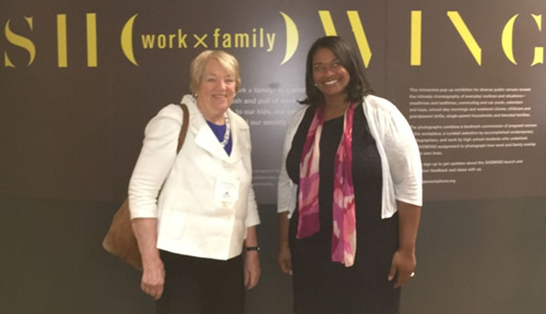 Women's Bureau Director Latifa Lyles (right) with Institute for Women's Policy Research President Heidi Hartmann.