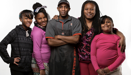 Terrence Wise and his family