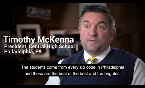 Screenshot of the video featuring Timothy McKenna.
