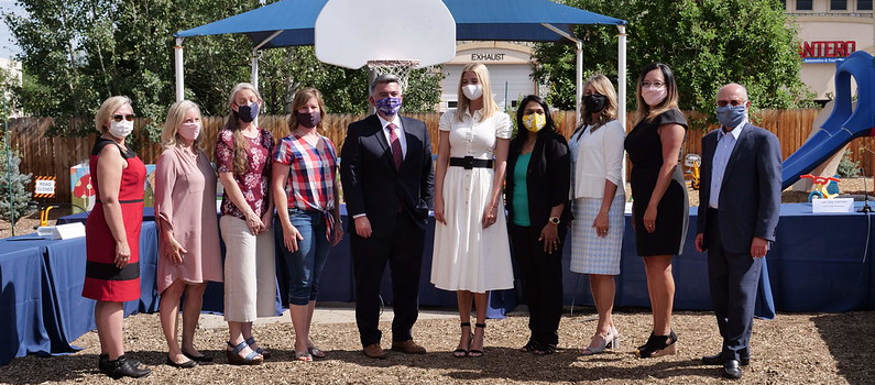  Advisor to the President Ivanka Trump and U.S. Senator Cory Gardner joined Women's Bureau Director Laurie Todd-Smith, parents, and staff at the Bright Beginnings Learning Center in Colorado. 