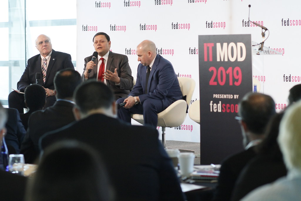 CIO Gundeep Ahluwalia participates on a panel at FedScoop's 2019 IT Modernization Summit. Photo courtesy of FedScoop.
