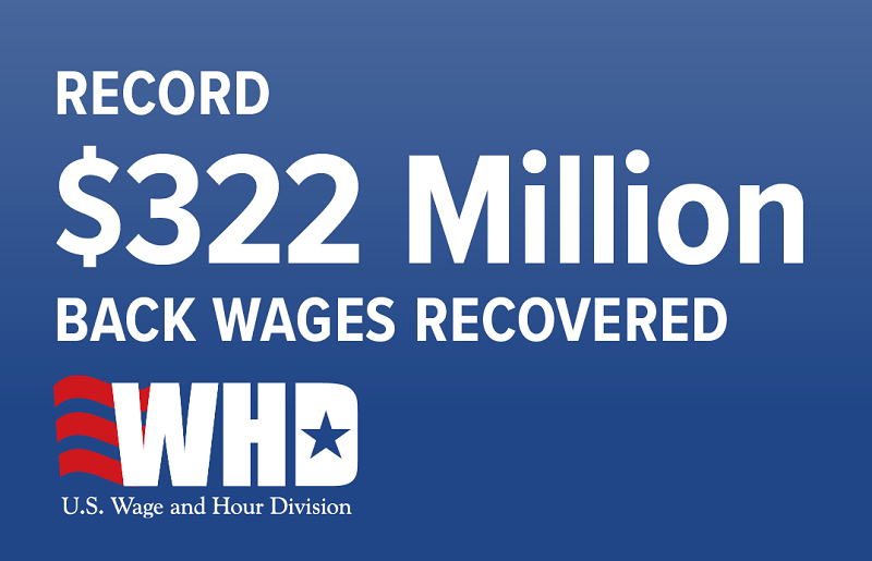 Record $322 million in back wages recovered