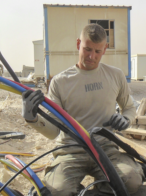 Kyle during his service in Iraq
