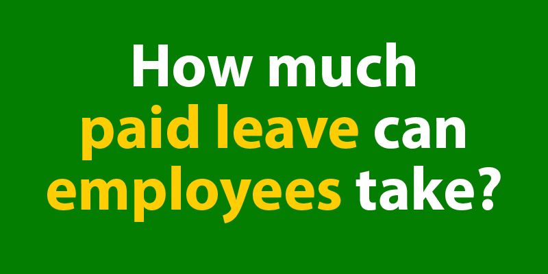 How much paid leave are you eligible for?