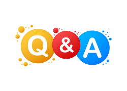 "Colorful text that says ""Q and A"""