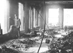 The interior of the Triangle Shirtwaist Factory following the deadly fire.