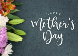 "A graphic with flowers that says ""Happy Mother's Day"""