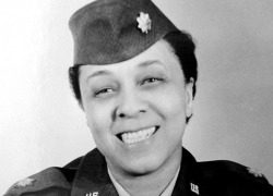 Oleta Crain, a former regional administrator of the Labor Department's Women's Bureau, joined the Women's Army Auxillary Corp (WAAC) in 1942.