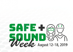 Safe and Sound Week. August 12-18, 2019