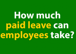 How much paid leave can employees take?